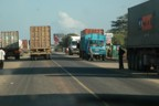 Crowded truck traffic on the Mombasa Road