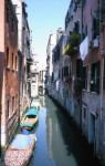 Narrow canals in Venice