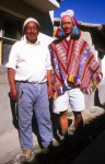 Apolinar and Martin (dressed as the president) at the hotel in Tinqui