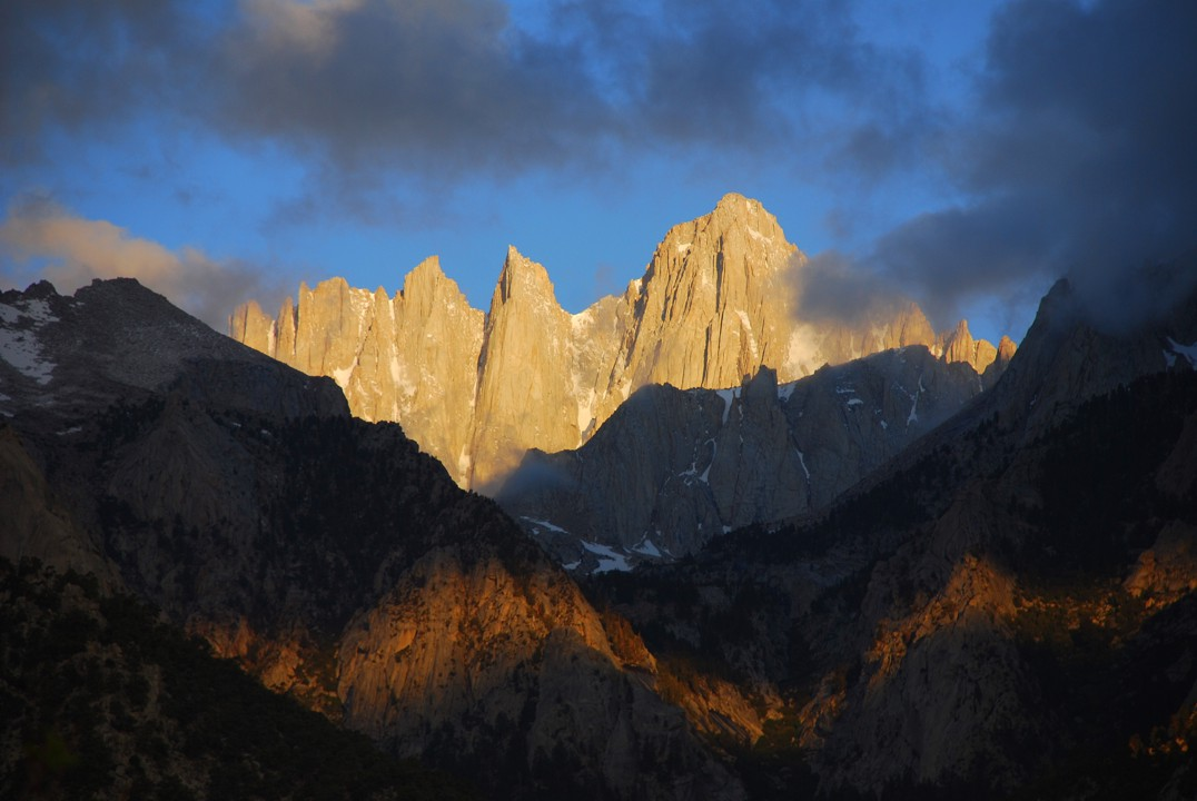 Mt. Whitney, as seen from our campsite
