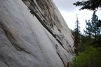 Slippery friction; our first route at Whitney Portal