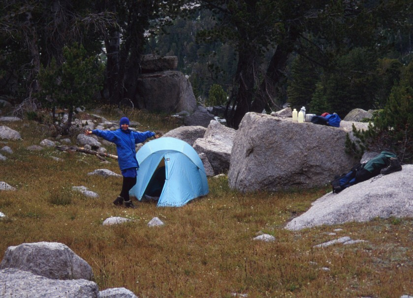 Camping in the alpine meadows of the Cirque of the Towers