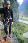 At the second belay on Happy New Year